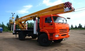 Автовышка КАМАЗ-22 метра